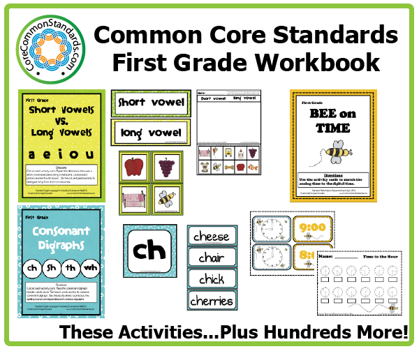 First Grade Common Core Worksheets Common Core Standards Common