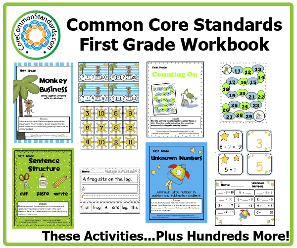 first grade common core activities 2 First Grade Common Core Workbook Download