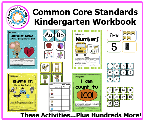 kindergarten common core activities 1 Kindergarten Common Core Workbook Download
