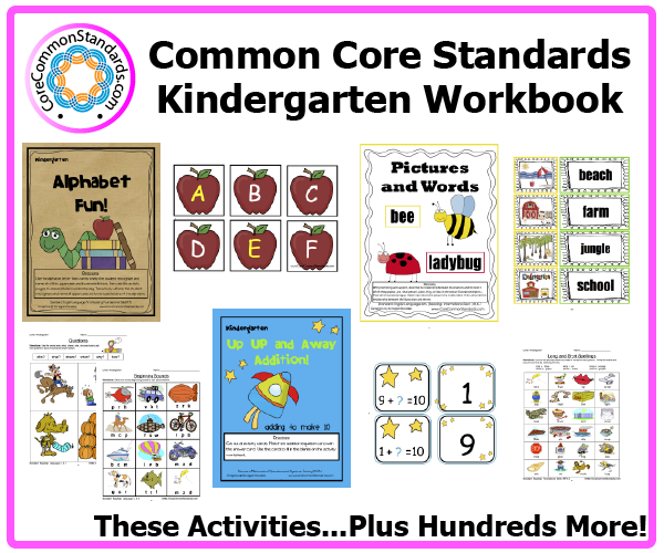 kindergarten common core activities 2 Kindergarten Common Core Workbook Download
