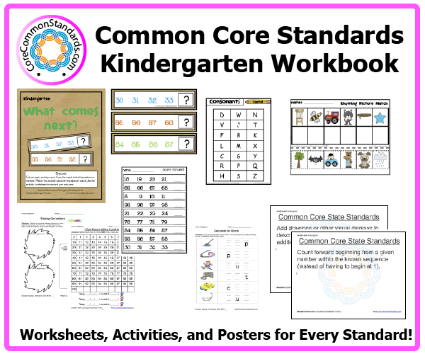 kindergarten common core activities 3 Kindergarten Common Core Workbook Download