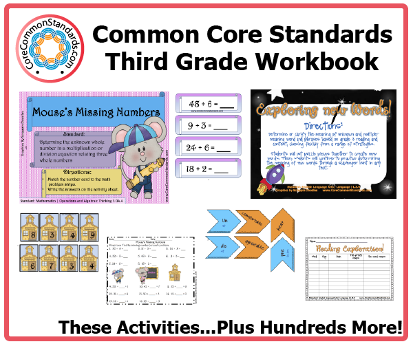 third grade common core activities 2 Third Grade Common Core Workbook Download
