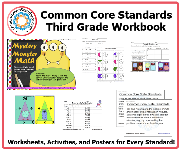 Common Core Standards Worksheets – Mandm Fraction Worksheet