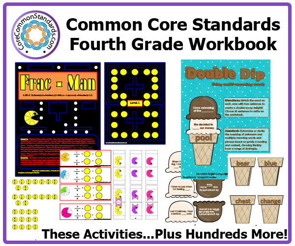 fourth grade common core activities 1 Fourth Grade Common Core Workbook Download