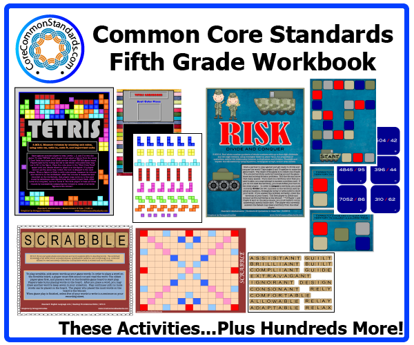 fifth grade common core activities 1 Fifth Grade Common Core Workbook Download