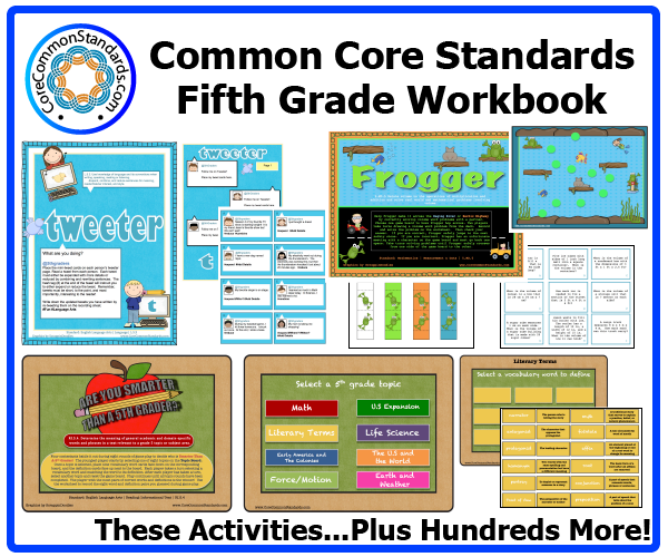 fifth grade common core activities 2 Fifth Grade Common Core Workbook Download