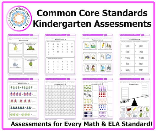 kindergarten common core assessments - Common Core Kindergarten